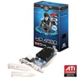 SAPPHIRE ATI VGA HD4550 1G HM PCI-E HDMI, DVI-I, VGA W, 512M DDR3 VRAM (ROHS) BULK, 11141-06-10R 11141-06-10R